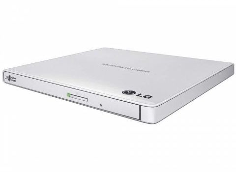 Nagrywarka zewnetrzna DVD R RW Slim USB HLDS GP57EW40 (biala) Sklep komputerowy serwis komputerowy klaj bochnia krakow malopolska