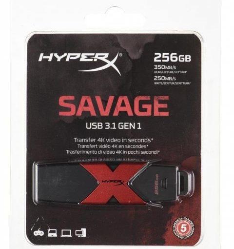 Pendrive Kingston HyperX Savage HXS3 256GB 256GB, USB 3.1, kolor czarny Sklep komputerowy serwis komputerowy klaj bochnia krakow malopolska