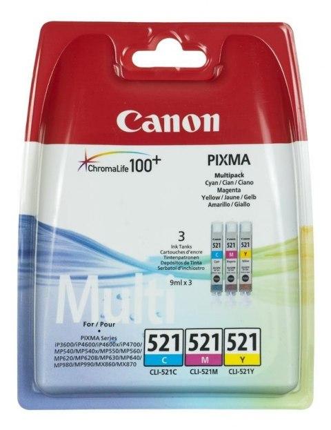 Tusz Canon 2934B010, oryginal CLI521 CLI 521 CMY, czerwony, niebieski, zolty, Sklep komputerowy serwis komputerowy klaj bochnia krakow malopolska