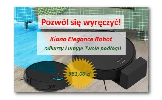 Odkurzacz robot Kiano elegance Linkart Commpol sklep agd rtv krakow